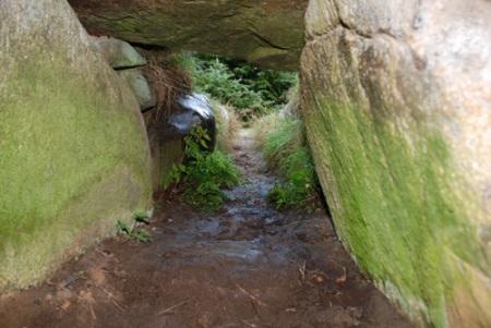 Stordyssen i Krejbjerg inden vi gik i gang med restaureringen. Det var ødelæggelsen af denne stordysse, der bragte arkæologerne på sporet af Marinus Refsgaard.